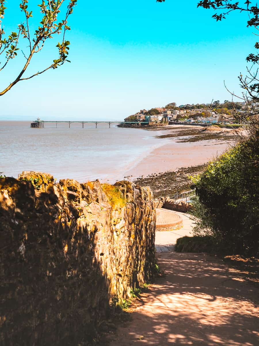 The views looking back over Clevedon