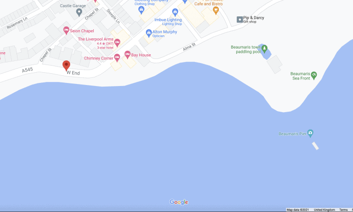 Beaumaris West End location