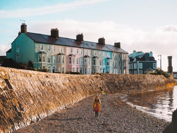 Beaumaris Colourful Houses photography West End Anglesey