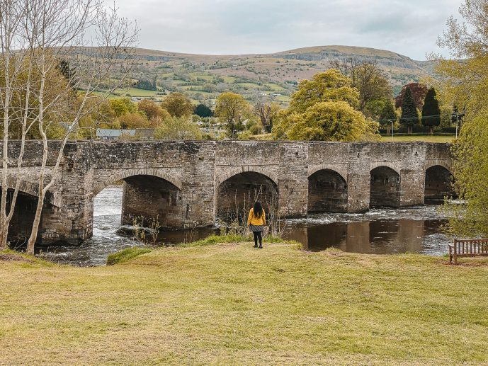 Crickhowell Bridge Wales Brecon Beacons