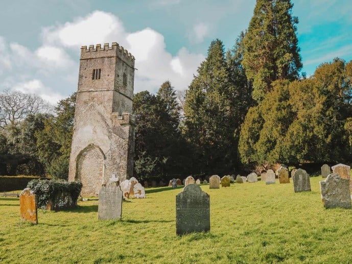 Tower of Old St Mary's Church in Dartington