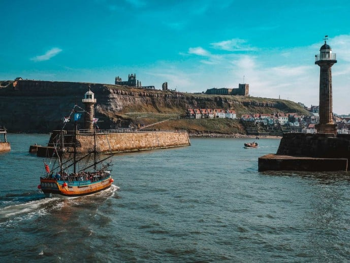 Bark Endeavour Pirate Ship in Whitby Captain Cook Experience