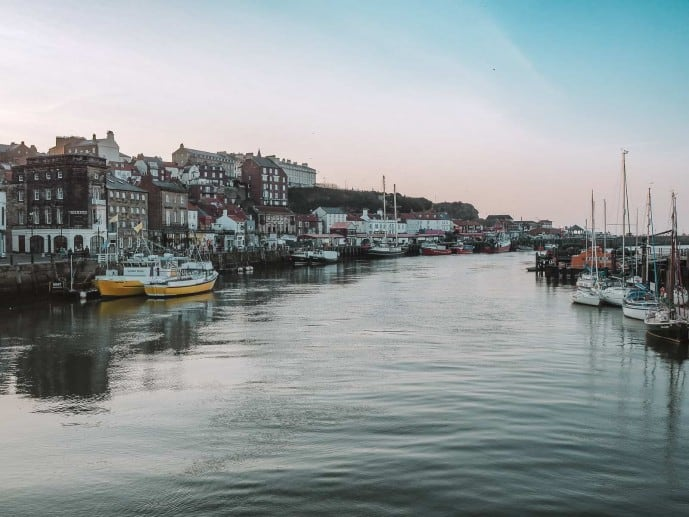 Dracula in Whitby Harbour - Instagrammable places in Whitby