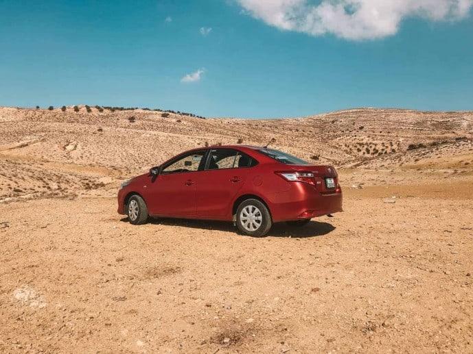 Toyota Yaris Renting a car in Jordan