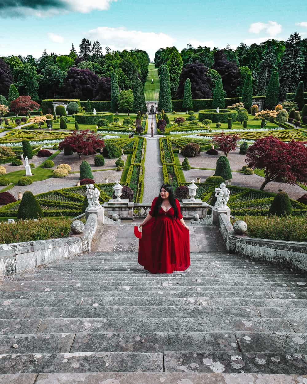 Drummond Castle Gardens in Outlander