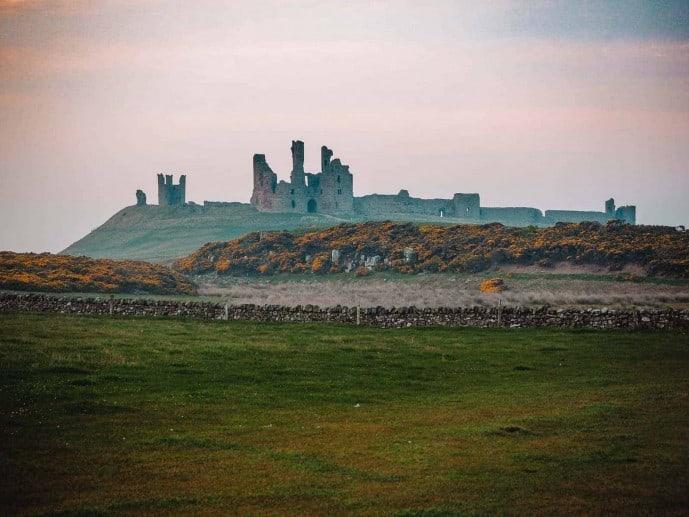 Dunstanburgh Castle ruin