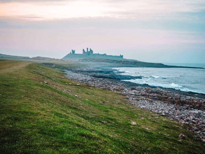 Dunstanburgh Castle ruins in Northumberland