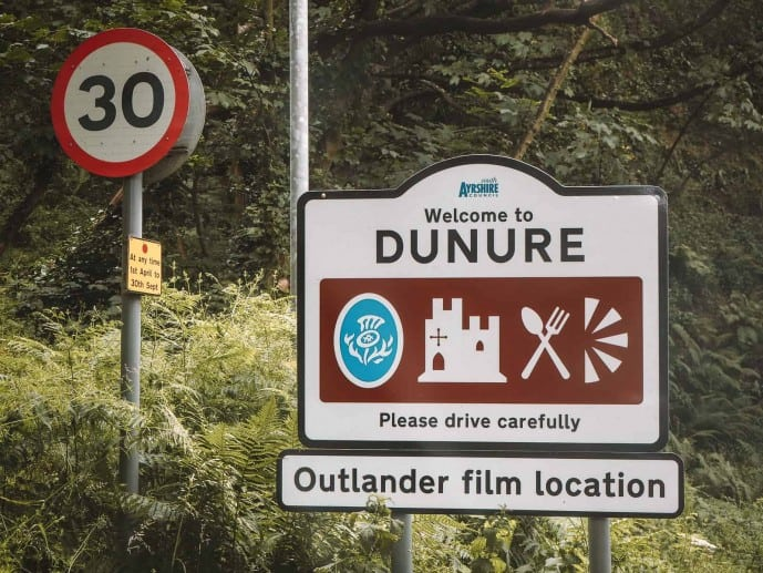 Dunure Castle Outlander locations