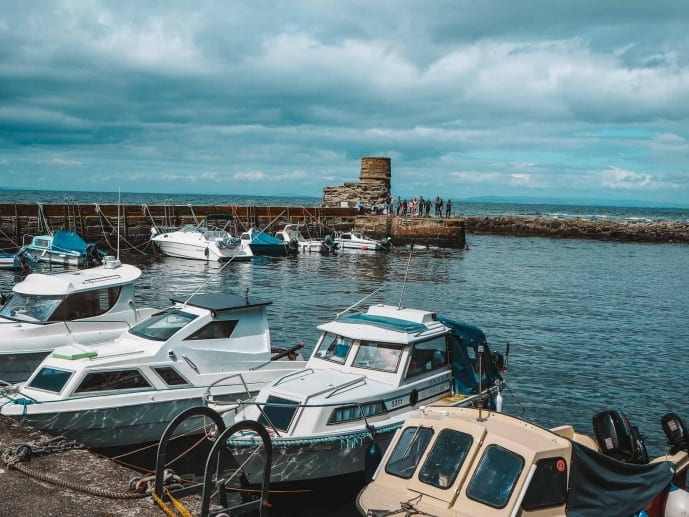 Dunure Harbour Outlander location