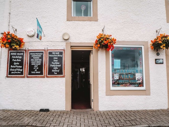 The Harbour View Cafe in Dunure