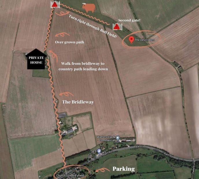 The Devil's Den Avebury walking directions