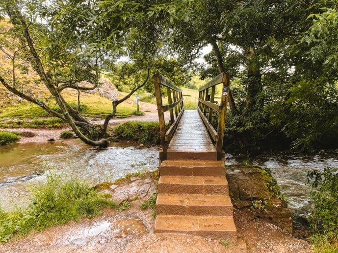 The bridge over River Dove