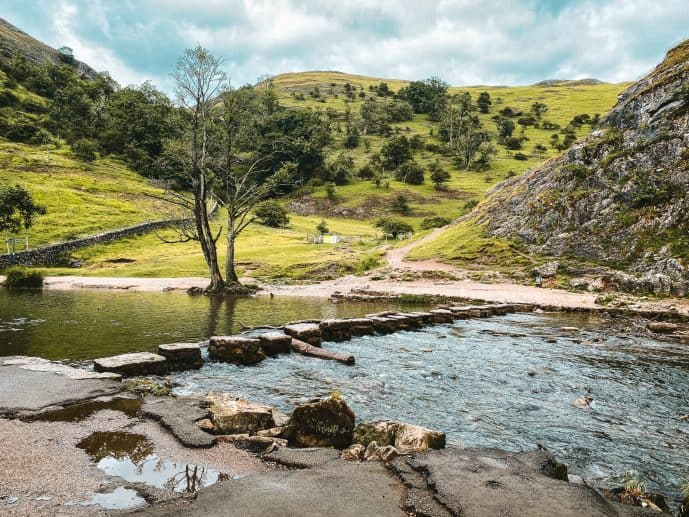 Dovedale Stepping Stones Peak District