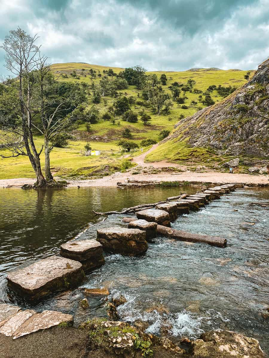 Dovedale Stepping Stones River Dove