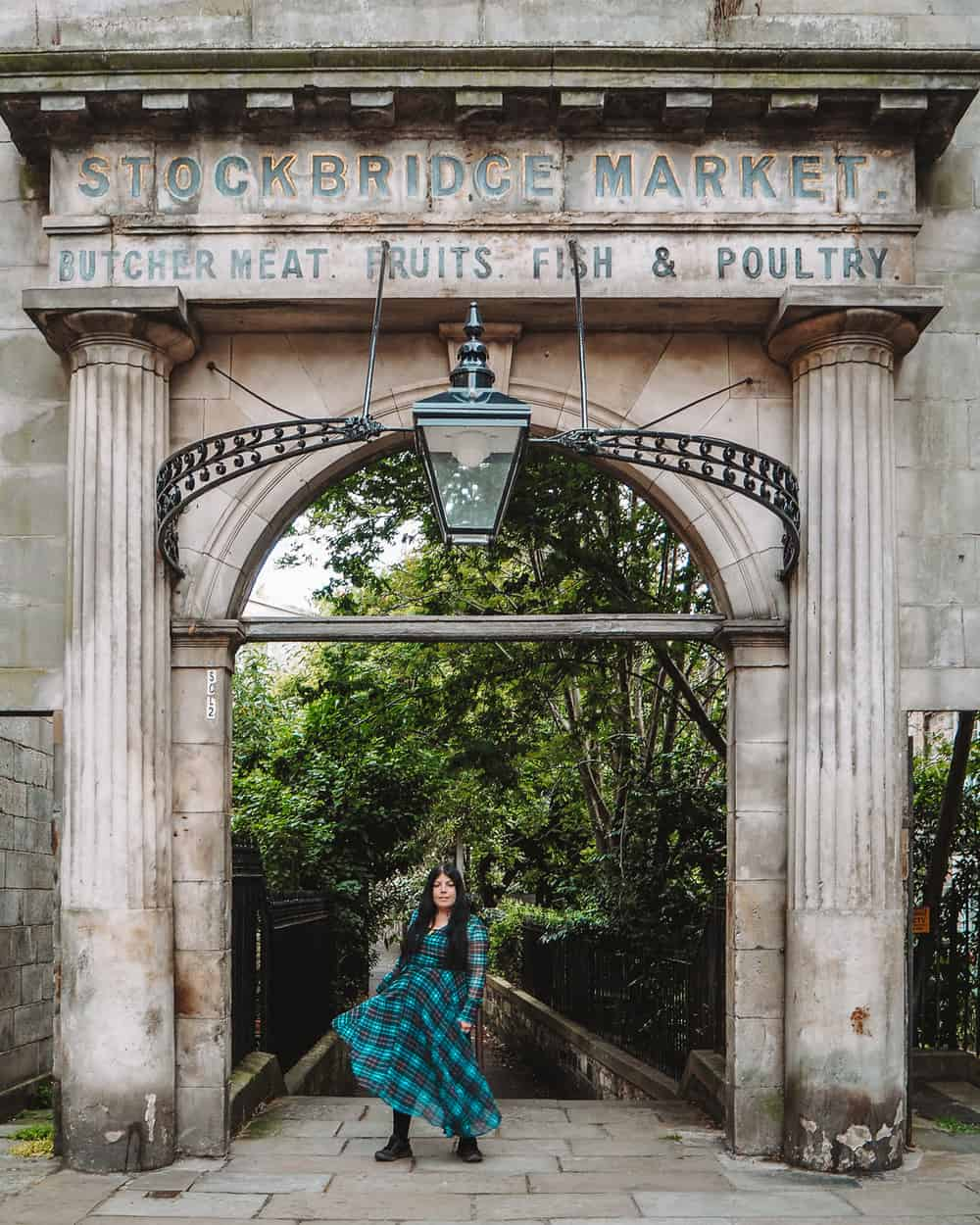 The Old Stockbridge Market Arch, Edinburgh | Instagram spots in Edinburgh