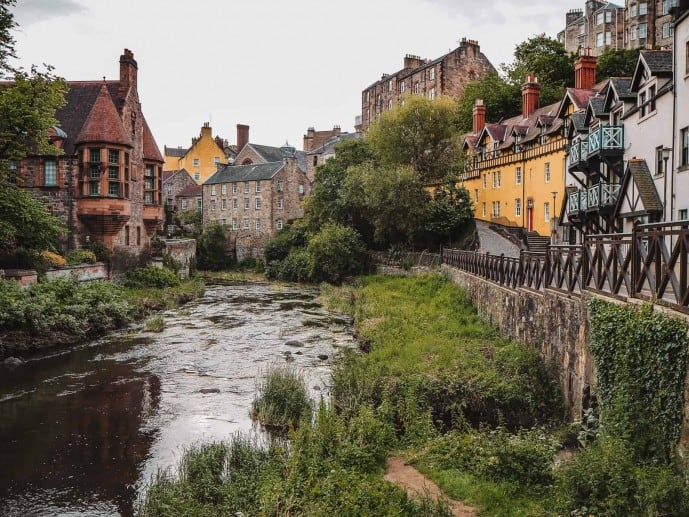 Instagram spots in Edinburgh | Dean village Edinburgh