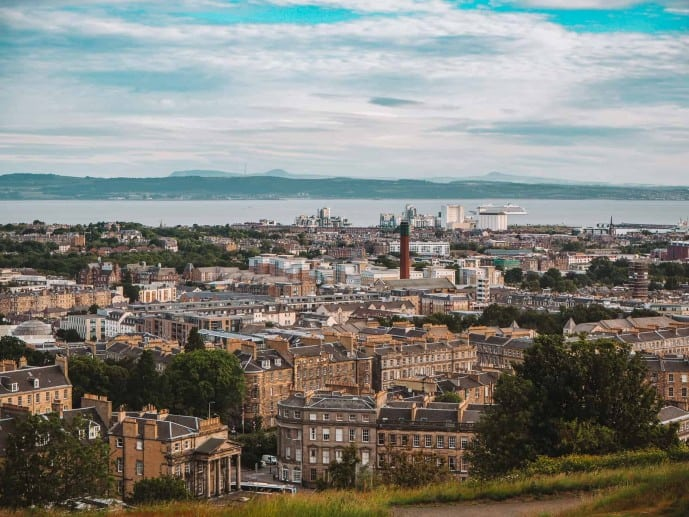 Calton Hill Viewpoint Edinburgh
