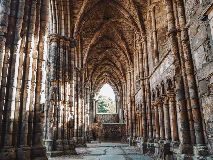 Holyrood Abbey Cloisters