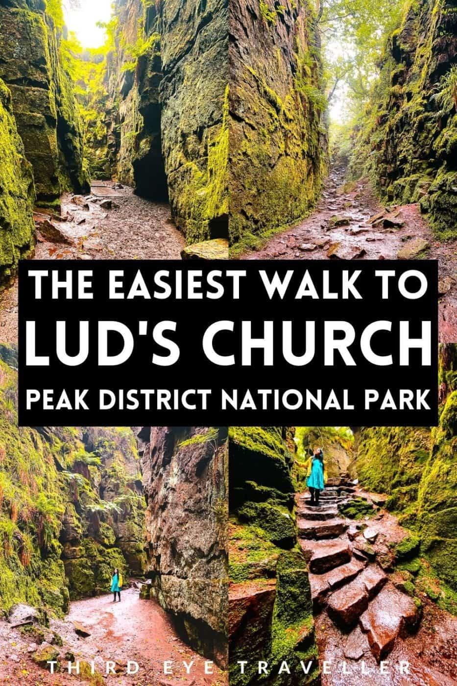 easy lud's church walk from gradbach peak district