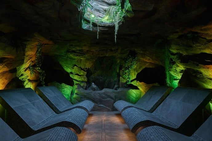 forest cave at Aqua Sana Longleat