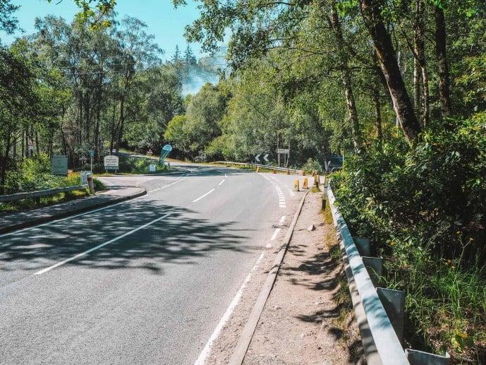 Road towards Glenfinnan Viaduct