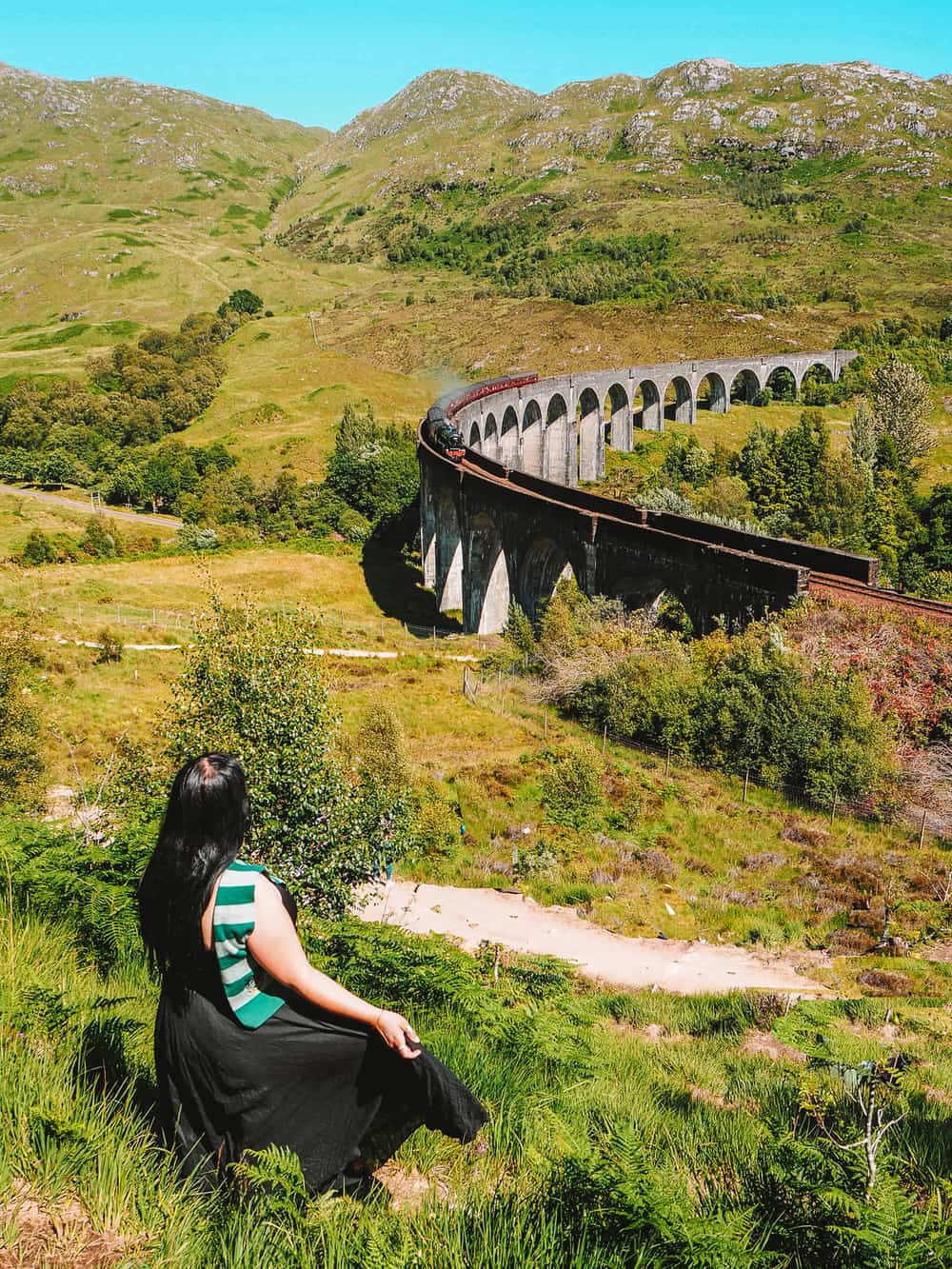 Hogwarts Express at Glenfinnan Viaduct Viewpoint