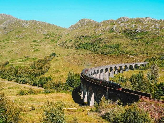 Harry Potter Express at Glenfinnan Viaduct