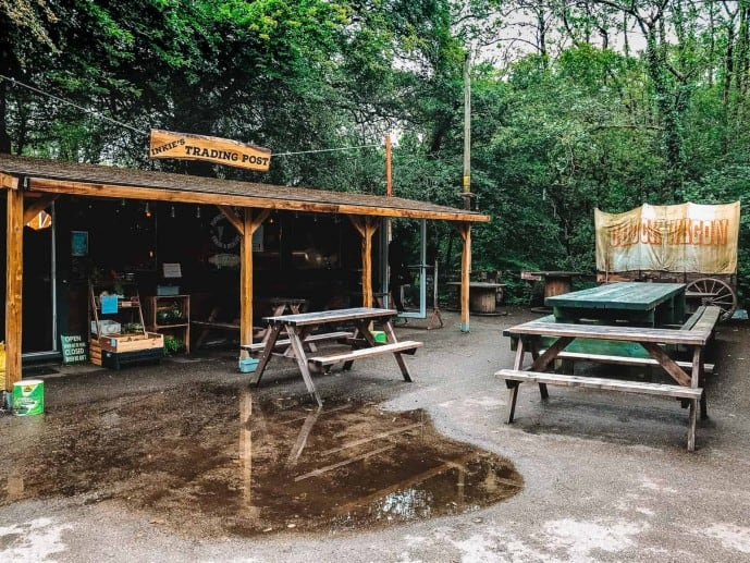 Inkie's trading post at Golitha Falls