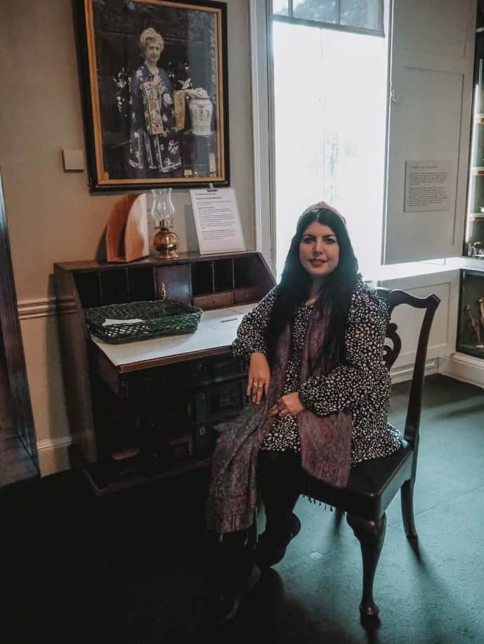 Agatha Christie's writing desk at Greenway