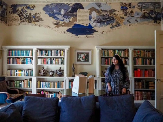 Greenway House Library Frieze paintings
