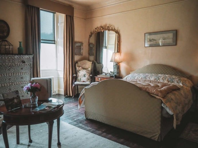 Agatha Christie's bedroom at Greenway House