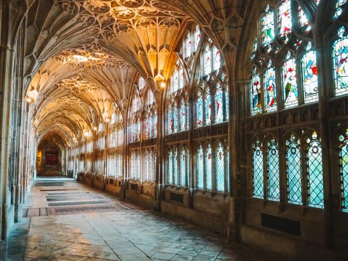 West Cloisters Gloucester Cathedral Harry Potter filming location