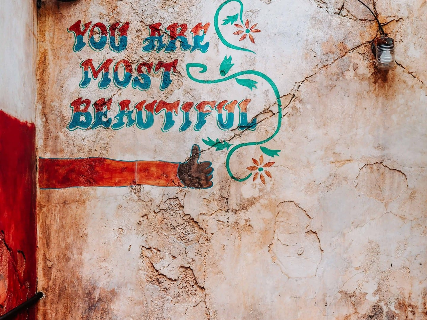 you are most beautiful wall location