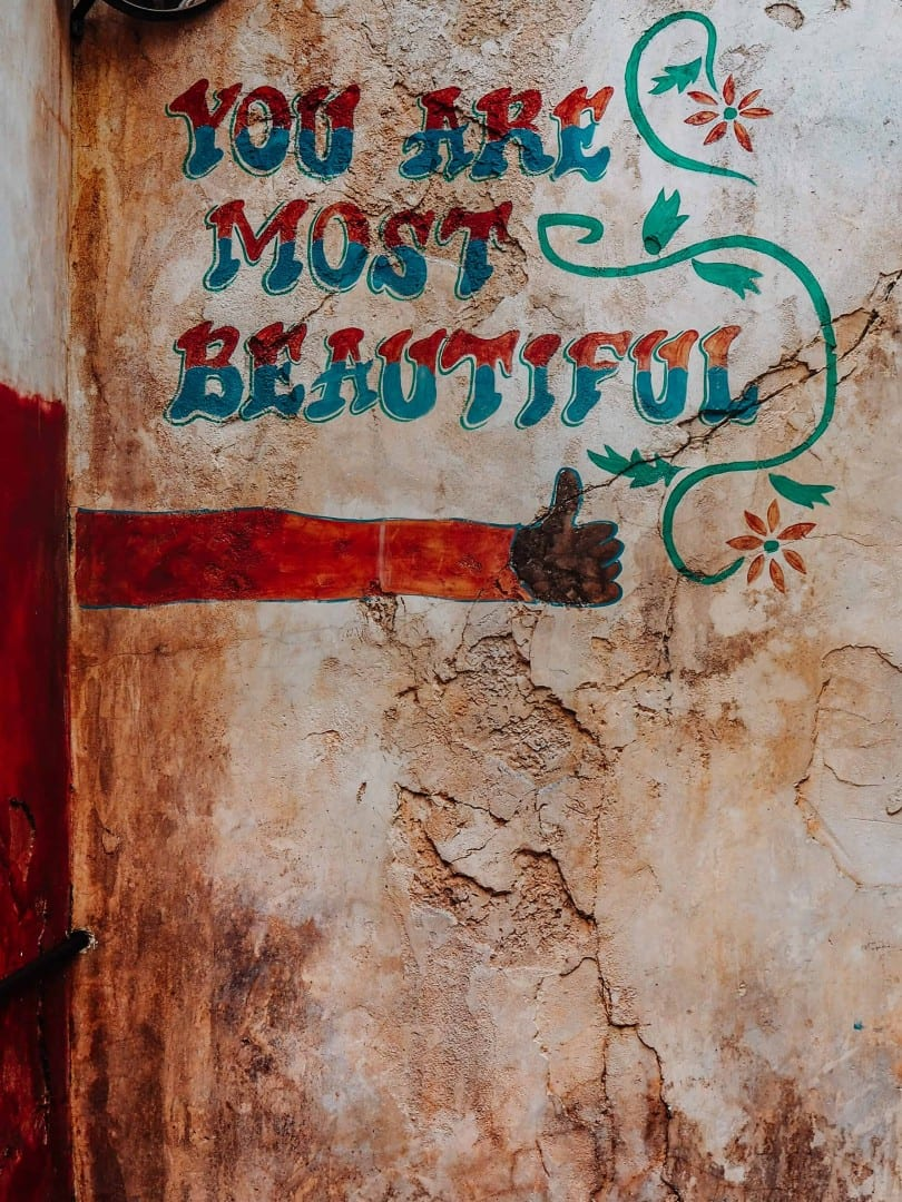 you are most beautiful wall location harambe market walls