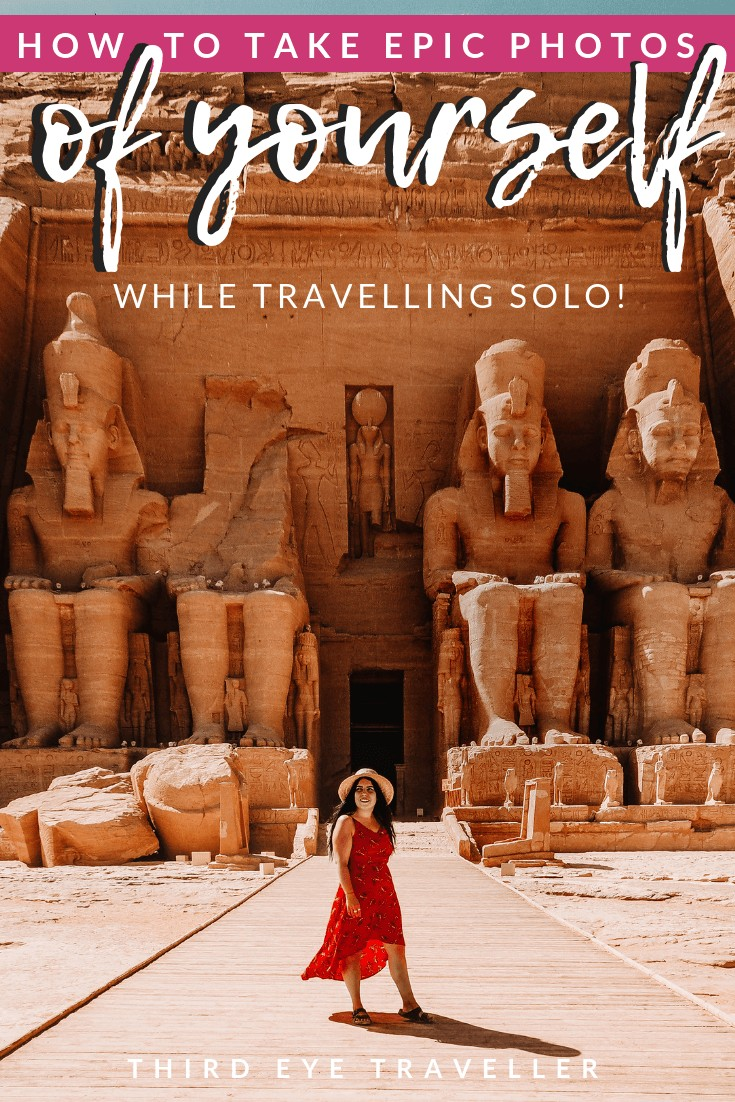 how to take photos of yourself when travelling solo