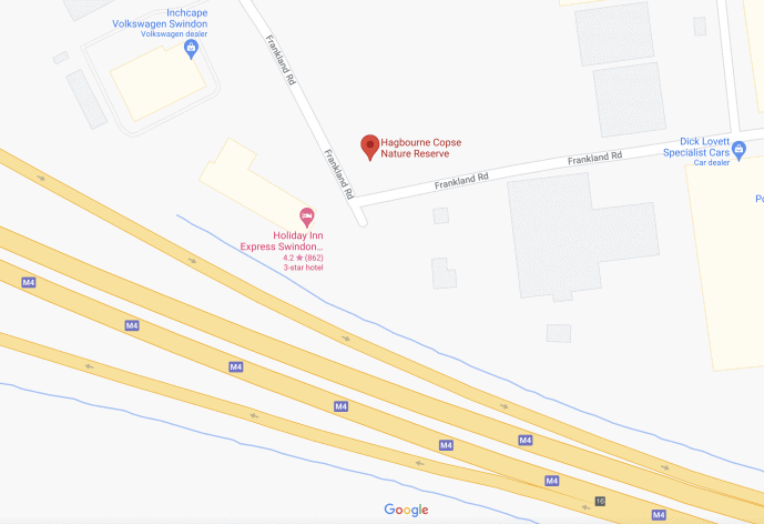 Hagbourne Copse location swindon