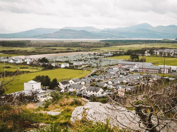 Views of Tremadog Bay from Harlech Castle