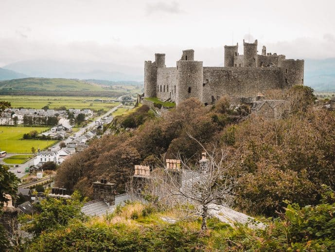 Harlech Castle over Tremadog Bay North Wales
