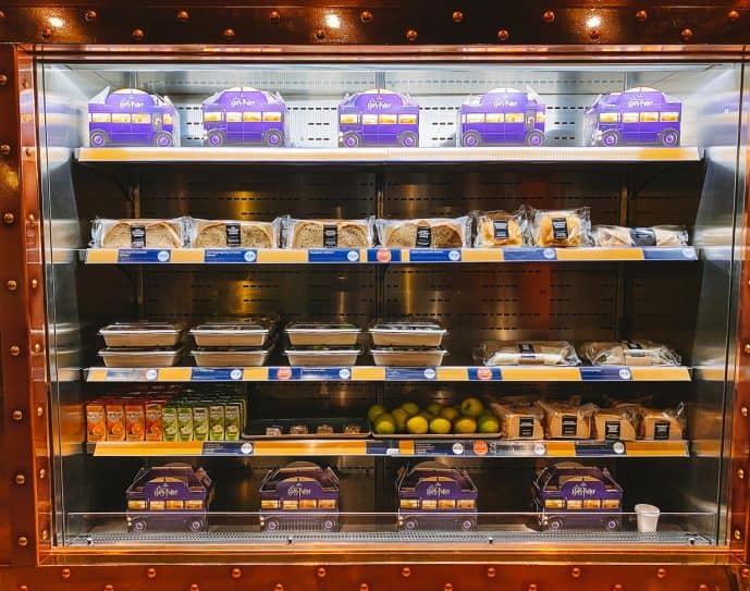 Food options at the Bottled Butterbeer Bar London