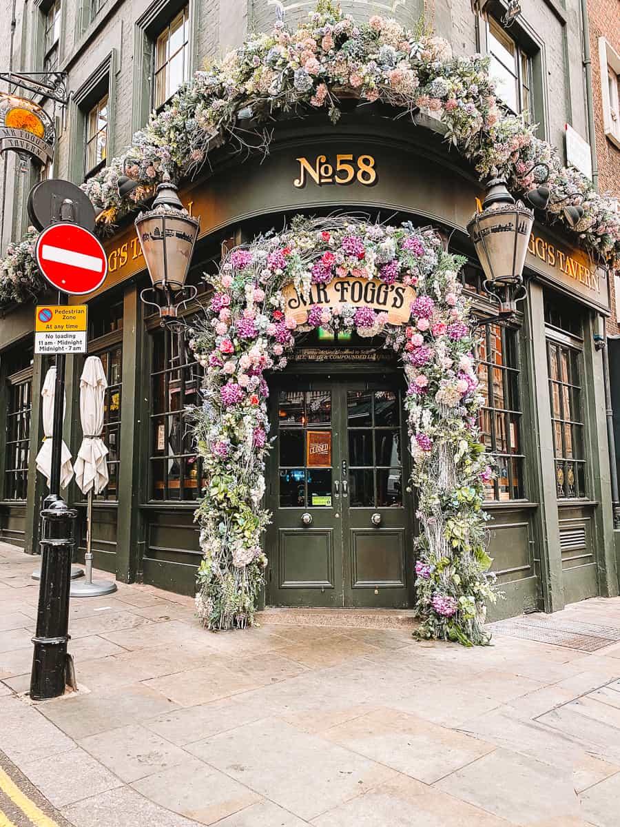 Mr Foggs Tavern Covent Garden