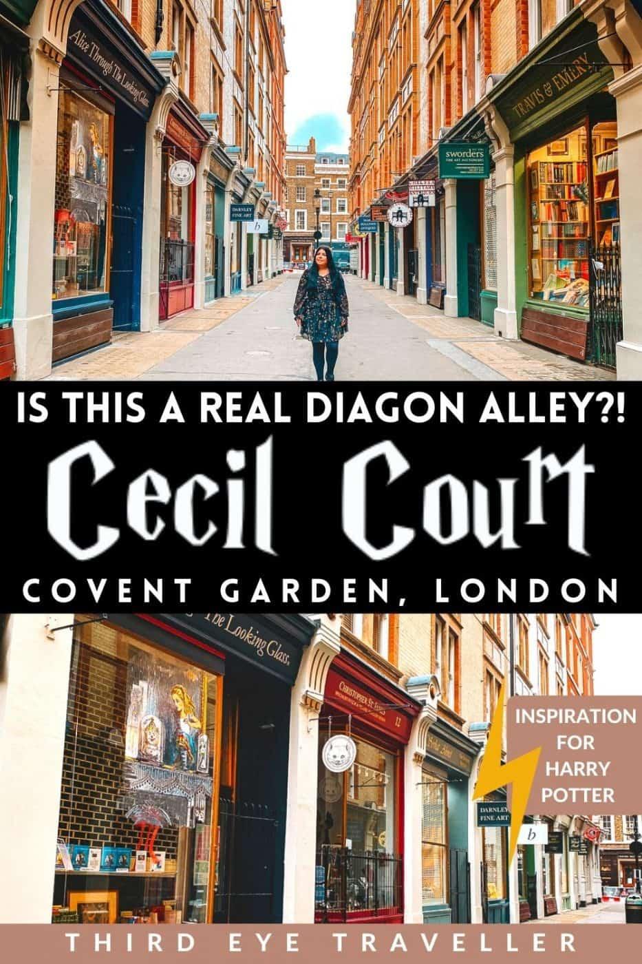HarrY potter Cecil Court London Diagon Alley inspiration