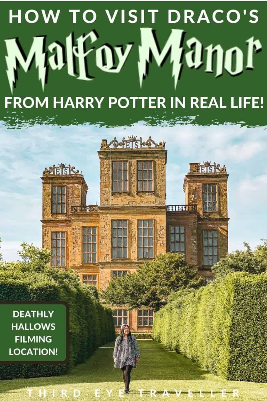 Harry Potter Hardwick Hall Malfoy Manor Filming Location - real Malfoy Manor location
