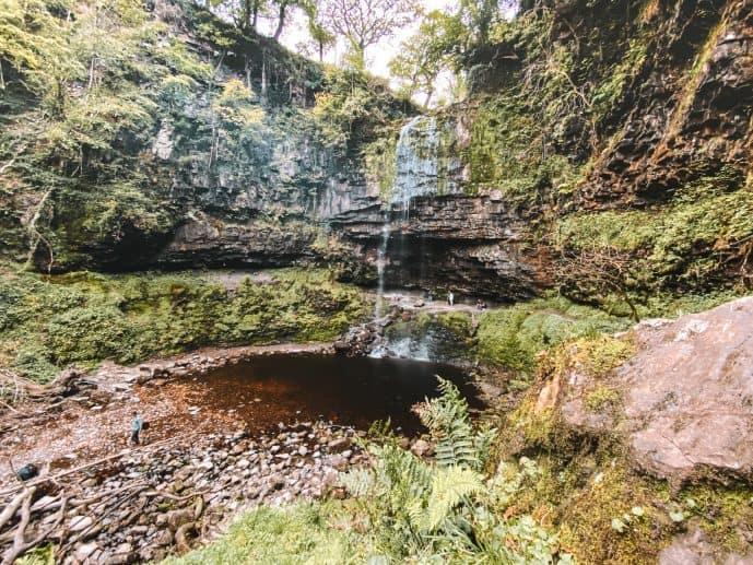 Henrhyd Falls Nant Llech Gorge Brecon Beacons