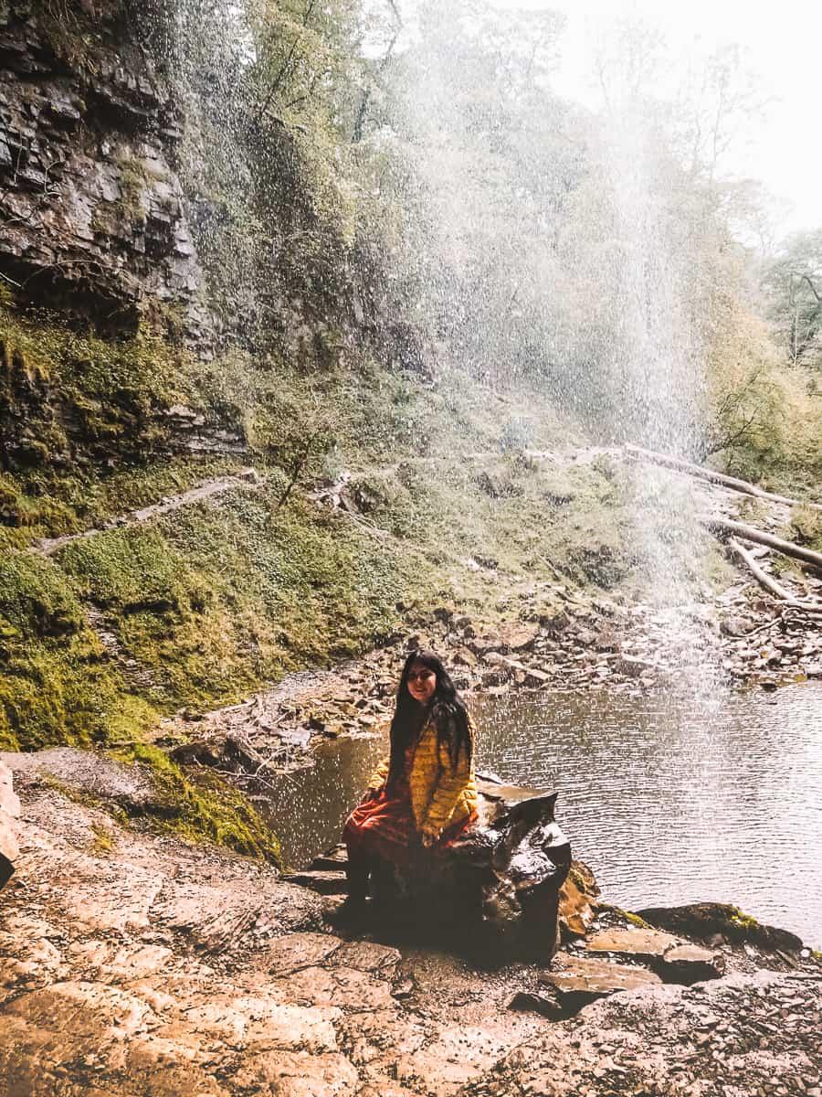 Walk Behind Henrhyd Falls in Brecon Beacons