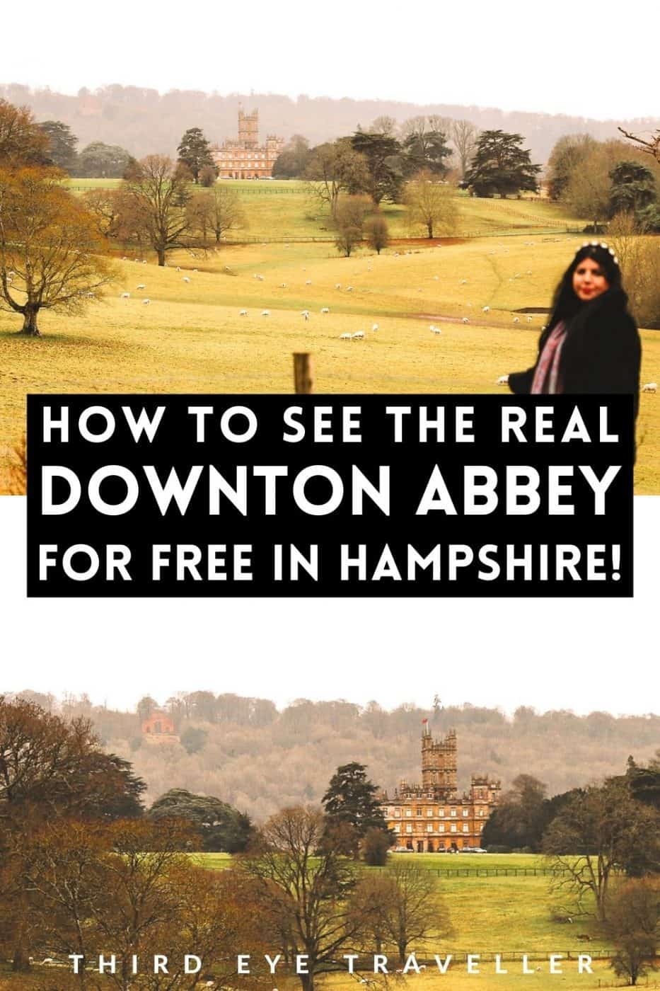 Highclere Castle for free public footpaths Downton Abbey