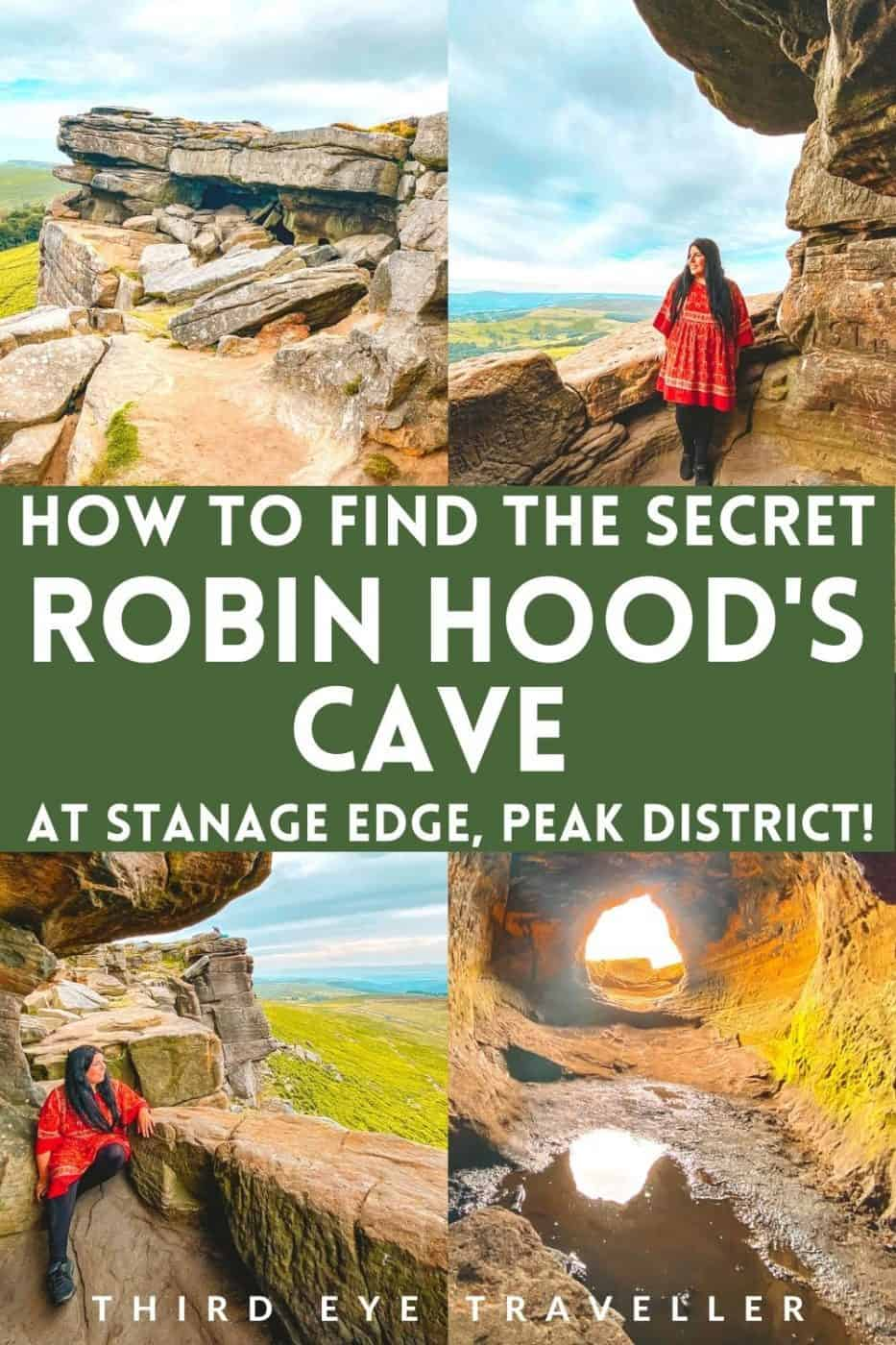 How to find Robin Hood Cave Stanage Edge Peak District