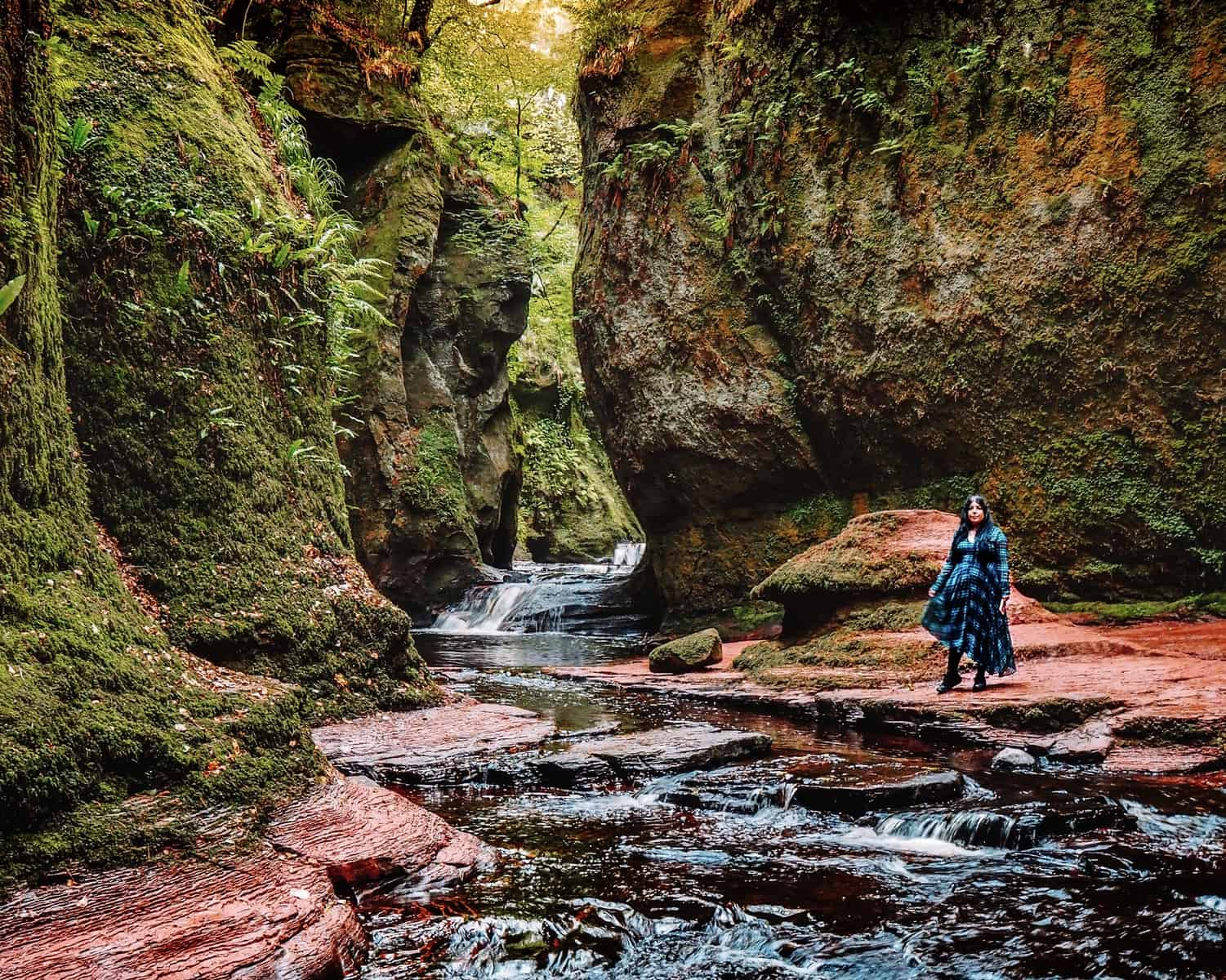 how to find the Devil's Pulpit Liar's Spring from Outlander | Outlander locations in Glasgow