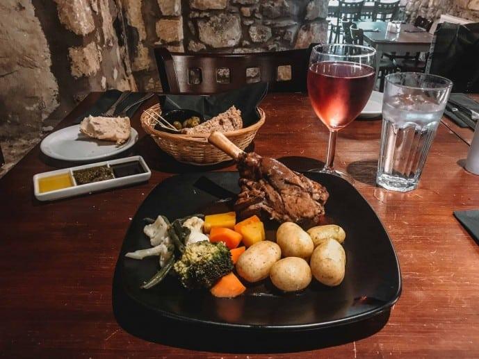 Lamb dinner at the Covenanter Hotel restaurant