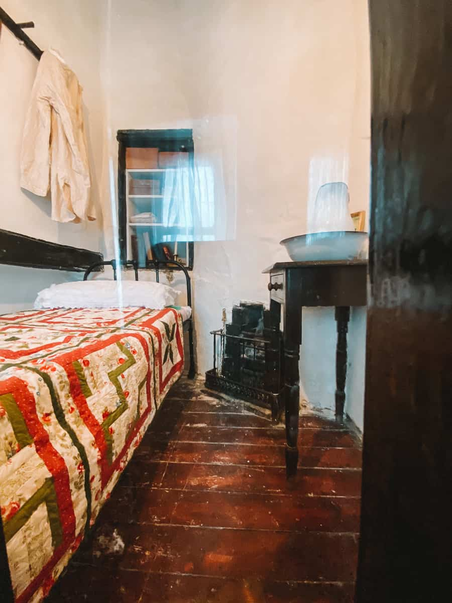 Bedroom in the Smallest House in Great Britain