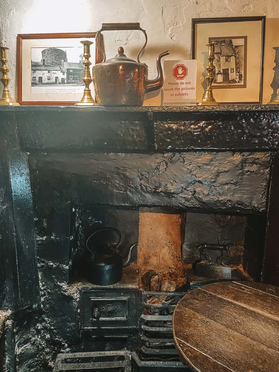 The fireplace in the smallest house Conwy